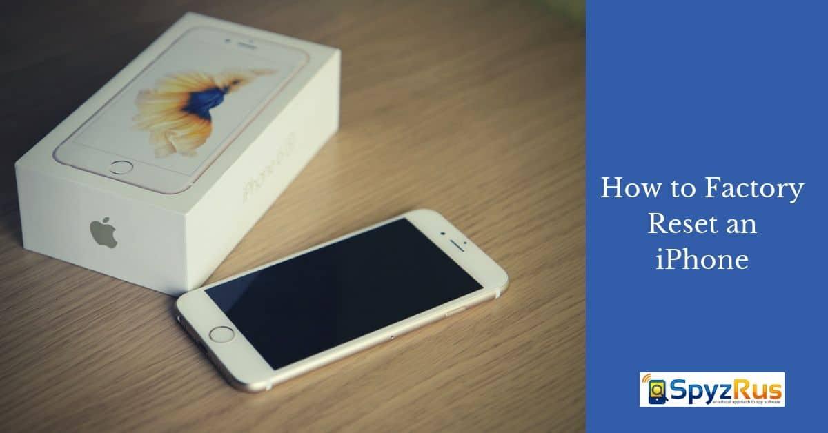 factory reset iphones