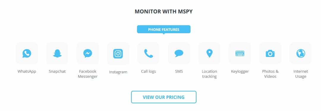 features of mspy app